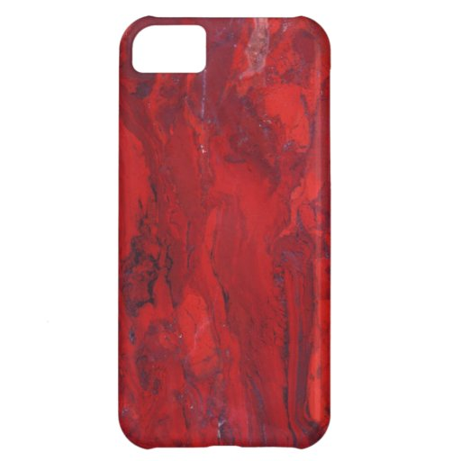 Red swirled marble slab iPhone 5C cases