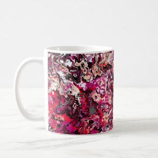 Red Swirling Floral Classic Designer Mug