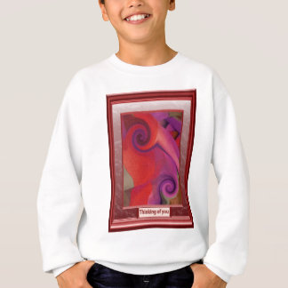 Red swirls and twirls sweatshirt
