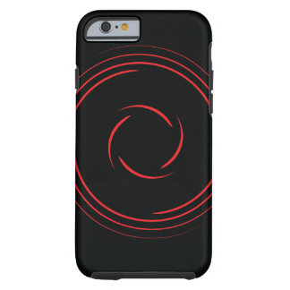 Red swirls tough iPhone 6 case
