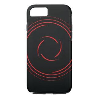 Red swirls iPhone 7 case