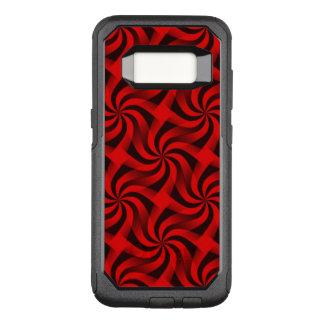 Red Swirls OtterBox Commuter Samsung Galaxy S8 Case