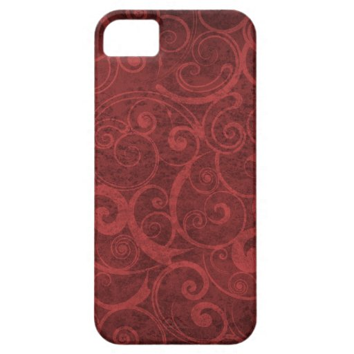 Red Swirls Texture iPhone 5 Covers
