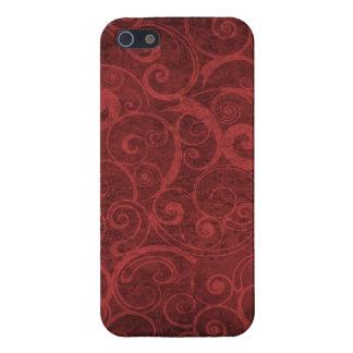 Red Swirls Texture iPhone 5 Case