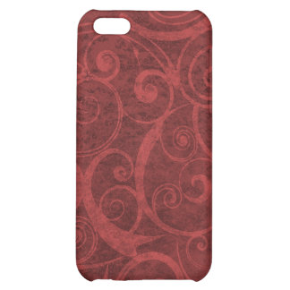 Red Swirls Texture Case For iPhone 5C