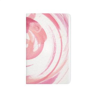 Red Swirls Watercolor Journal