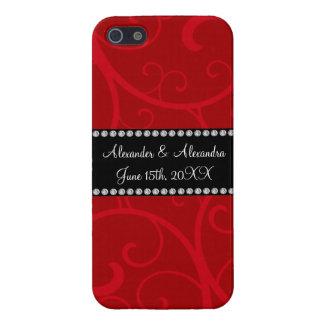 Red swirls wedding favors iPhone 5 case