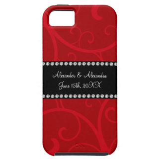 Red swirls wedding favors iPhone 5 cover