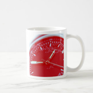 Red Swiss Watch Face Basic White Mug