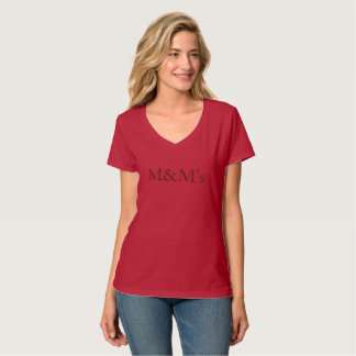 red t-shirt chocolate lettering Mothering mentore