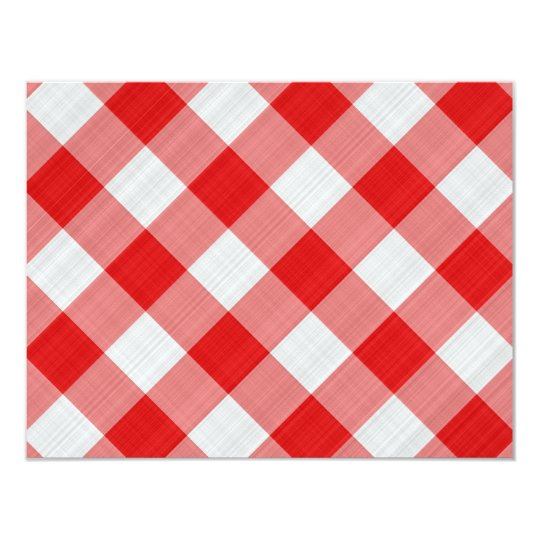 red table cloth card