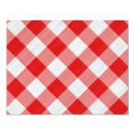 red table cloth invite