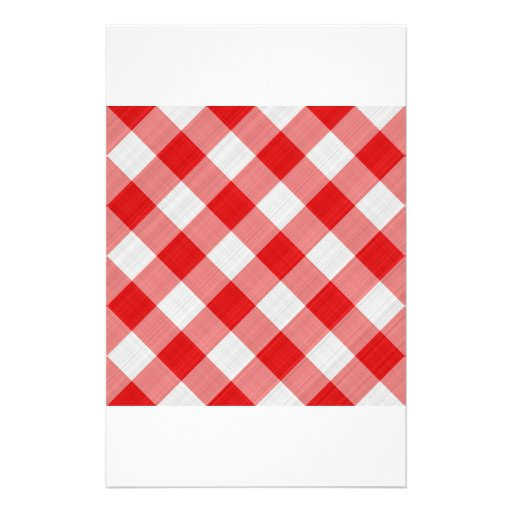red table cloth personalized stationery