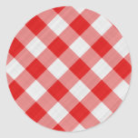 red table cloth round sticker