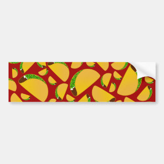 Red taco pattern bumper stickers