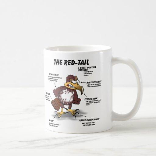 Red-tail Hawk Cartoon Coffee Mug