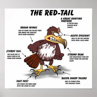 Red-tail Hawk Cartoon Poster