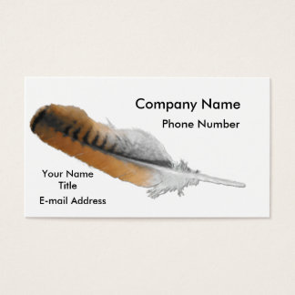 Red-tail Hawk feather Business Card