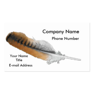 Red-tail Hawk feather Pack Of Standard Business Cards