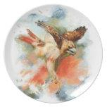 Red Tail Hawk Plate