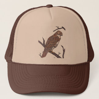 red tail hawk trucker hat