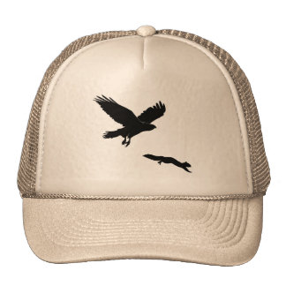 Red tail on squirrel silouette cap