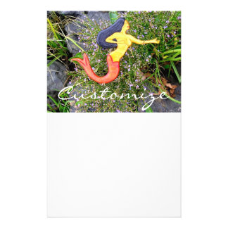 red-tail sirena mermaid personalized stationery