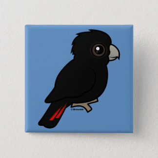 Red-tailed Black Cockatoo 15 Cm Square Badge