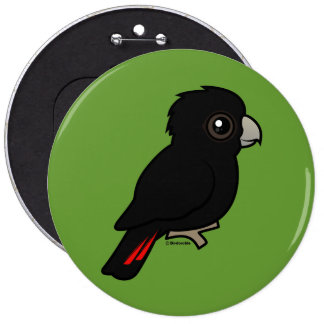 Red-tailed Black Cockatoo 6 Cm Round Badge