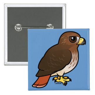 Red-tailed Hawk 15 Cm Square Badge