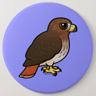 Red-tailed Hawk 6 Cm Round Badge
