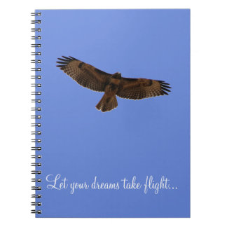 Red Tailed Hawk Dream Journal Blue Background