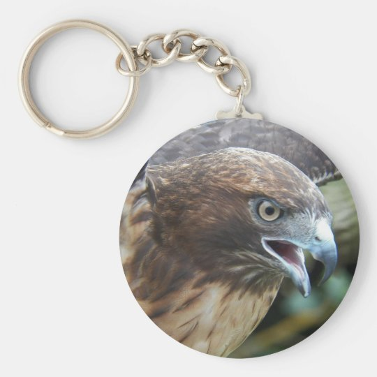 Red-tailed Hawk Photo Basic Round Button Key Ring