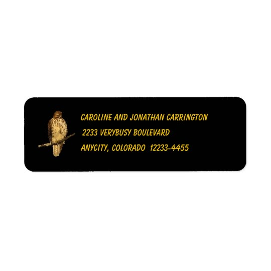 Red Tailed Hawk Return Address Label