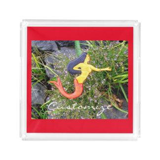 red-tailed sirena mermaid acrylic tray