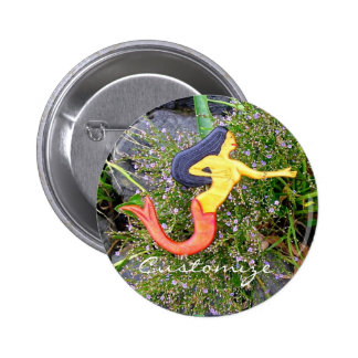 red tailed sirena mermaid back to school 6 cm round badge