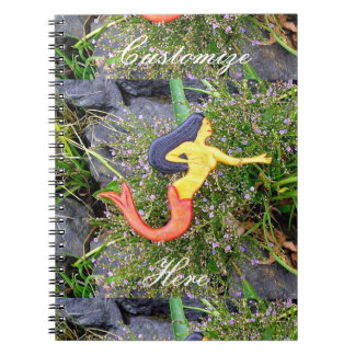 red-tailed sirena mermaid spiral note books