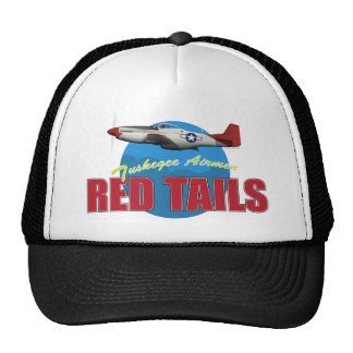 Red Tails Tuskegee Airmen with P-51 Cap