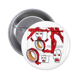 RED TAPE PINBACK BUTTON