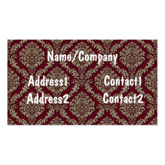 Red Tapestry Victorian Pattern Business Card