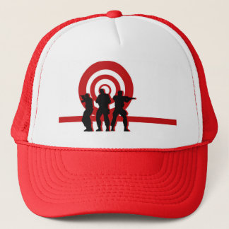 Red Target Military Hat
