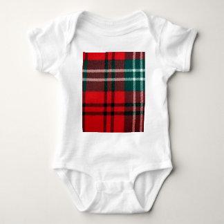 Red tartan baby bodysuit