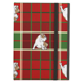 Red Tartan Bulldog Cover For iPad Air