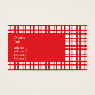 Red Tartan Business Card