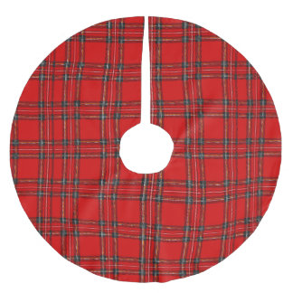 Red Tartan  - Christmas Tree Skirt