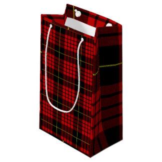 Red Tartan Gift Bag