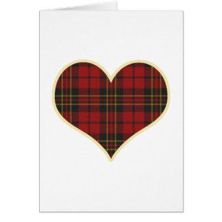 Red Tartan Heart Card