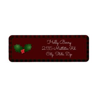 Red Tartan Holly