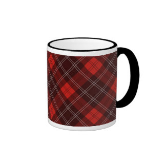 Red tartan mugs