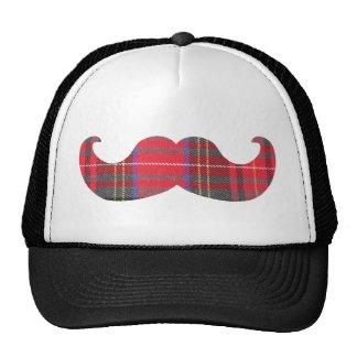 Red Tartan Mustache Cap
